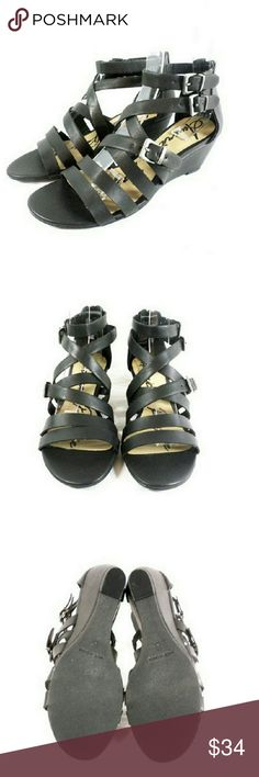 """American Rag Carlin Wedge Sandals Thanks for checking out my closet. I take all my own pics. The shoes are authentic and new in box. Shoes have a man made upper and 1.75"""" heel. American Rag Shoes Sandals"""