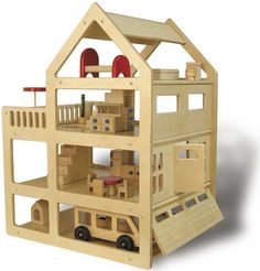 I hope Tim is up for the challenge of making this!!     Down To Earth Toys :: Family Dollhouse