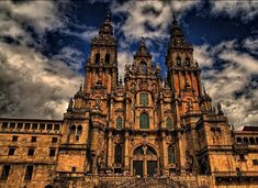 The Beautiful Cathedral of Santiago de Compostela, Galicia Spain