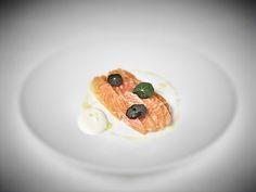 Cured sea trout, crème fraîche, lemon vinaigrette