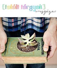 Books and gardening unite to make my day.