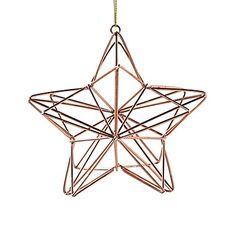 Étoile en métal à suspendre H12cm