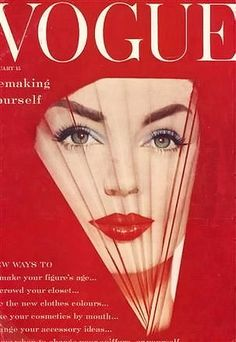 Dolores Hawkins, Vogue Jan. 1959, cover by William Bell
