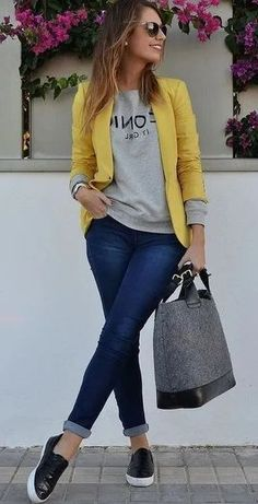 Stunning Women Casual Outfits with Blazer - My Daily Pins - Atuendo Casual - Fashion Outfits Blazer Outfits Casual, Business Casual Outfits, Cute Casual Outfits, Stylish Outfits, Blazer Fashion, Casual Wear Women, Women Blazer Outfit, Casual Style Women, Trendy Style