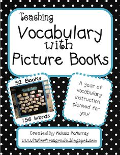 Actual site - You'll never have to plan a vocabulary lesson again!Use picture books each week to teach your students vocabulary. I've read and chosen quality v. Vocabulary Instruction, Teaching Vocabulary, Vocabulary Practice, Teaching Language Arts, Teaching Reading, Speech And Language, Teaching Tools, Teaching Ideas, Learning