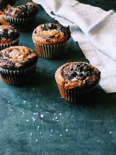 Double Chocolate Spiced Pumpkin Swirl Muffins