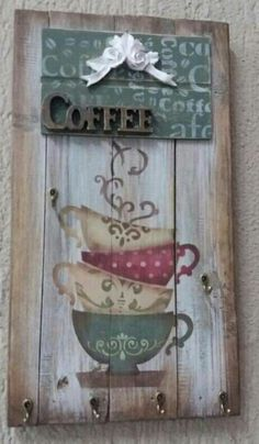 Wooden Decor, Rustic Decor, Diy Corner Shelf, Tole Decorative Paintings, Decoupage Wood, Barn Wood Crafts, Wooden Cutouts, Painted Signs, Painting On Wood