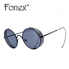 bc86630d2c 2016 New Fashion Summer Style Sunglass Women Brand Designer Steampunk Vintage  Sunglasses Rimp Screen Men Punk Round Sun Glasses-in Sunglasses from Men s  ...