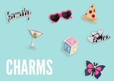 #Charms for #OrigamiOwl floating memory #Lockets just $5 each. Many NEW excellent quality styles! #Pizza #Martini #Twins #Butterfly