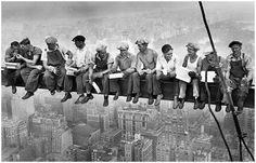 Charles c. Ebbets- Very Famous Photo!  I've seen it many times & always wonder how they managed!