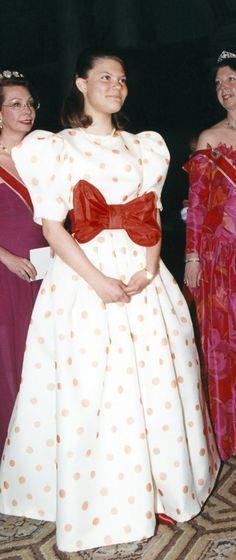 Princess Victoria - oh, the 80's were such a fun fashion decade...