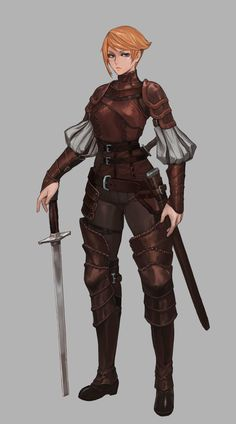leather armor, Taemin Yoo on ArtStation at https://www.artstation.com/artwork/0rxXY