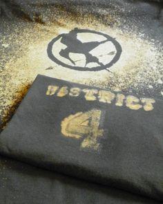 DIY Hunger Games Spray method on back (updated shirt back)