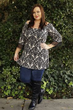 Love this tunic!!  #inspiredbyyou Plus size fashion from Be Inspired Boutique