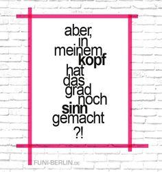 """Wand-Deko - """"SINN.""""   typo poster   size L - ein Designerstück von funiberlin bei DaWanda"""