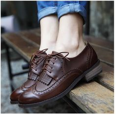 Tendance Chaussures  New 2014 vintage women flats genuine leather oxford shoes for women-inFlats from  Tendance & idée Chaussures Femme 2016/2017 Description New 2014 vintage women flats genuine leather oxford shoes for women-inFlats from Shoes on Aliexpress.com