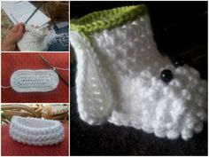 Lamb Crochet Booties FREE Pattern