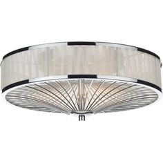 DAR Oslo Polished Chrome 3 Lamp Flush Light with Ivory Organza Border. The DAR Lighting is part of the Flush Lighting range. Flush Ceiling Lights Uk, Low Ceiling Lighting, Lighting Uk, Semi Flush Lighting, Hallway Lighting, Bedroom Lighting, Wall Lights, Lighting Ideas, Lighting Direct