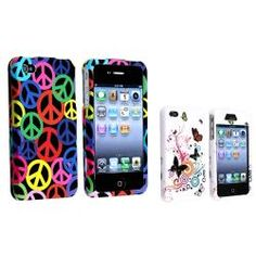 @Overstock - This is a 2-piece set for Apple iPhone 4/ 4S. Protect your cell phone from bumps and scratches with this accessory set.http://www.overstock.com/Electronics/Black-Rainbow-Peace-White-Autumn-Flower-Cases-for-Apple-iPhone-4-4S/6806207/product.html?CID=214117 $7.54