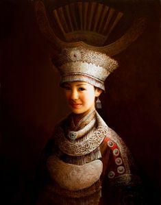 Yi Beauty, par Dongmin Lai.  Peintre chinois contemporain, dans le style des maîtres de la Renaissance. Repinned by Merry Tree Lane