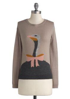 Wizard of Ostrich Sweater   Mod Retro Vintage Sweaters   ModCloth.com