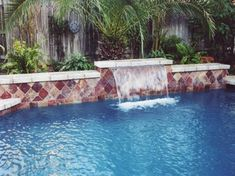 Houston pools with sheer descent water feature