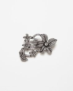 Image 1 of FLORAL GEM BROOCH from Zara