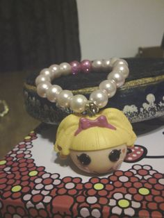 Lalaloopsy doll head charm bracelet by LoveIsHealing on Etsy, $6.99