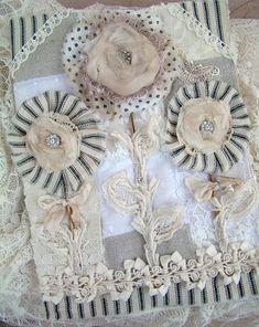 Shabby Blossoms Fabric Book