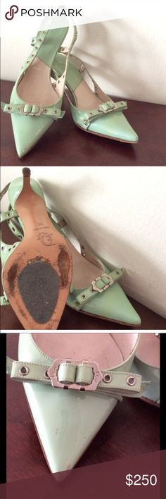 Christian Dior Mint color shoes Authentic Dior shoes, made in Italy. Gently worn. Has a lot of life to them. Box not included. Make me your best offer. Christian Dior Shoes