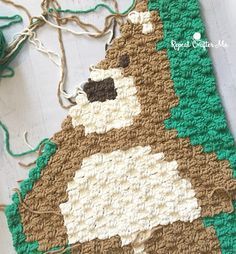 [Crochet Tutorial] Corner-to-Corner Bear Blanket