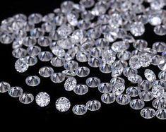 Moissanite   Etsy Pink Diamond Engagement Ring, Tiffany Earrings, Red Rose Flower, Moissanite Diamonds, Beautiful Earrings, Green Colors, Gemstones, Crystals, Cut Loose