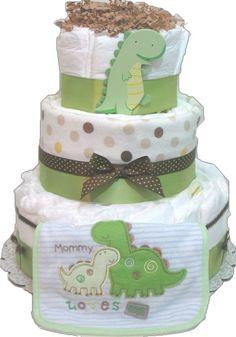Dinosaur Diaper Cake