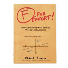 F FOR EFFORT BOOK | funny test answers, wrong | UncommonGoods