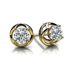 Purchase Round Cut Natural Diamond Stud Earrings In White Gold Carat ,F-G VS) from JewelryHub on OpenSky. Share and compare all Jewelry. Diamond Solitaire Earrings, Diamond Studs, Diamond Pendant, White Gold Diamonds, Natural Diamonds, Round Diamonds, Small Earrings, Stud Earrings, Baby Earrings