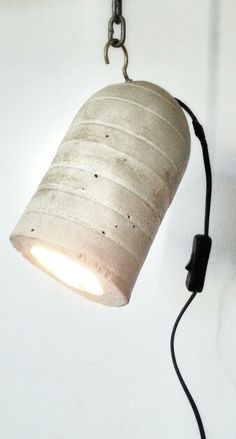 Concrete lamp I made
