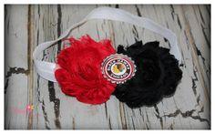 Chicago Blackhawks Shabby Chic Headband by BloomingPetal on Etsy, $6.95