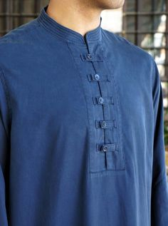 Tencel and Cotton Jabbar Thobe - Thobes - Men