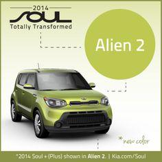 2014 Kia Soul. New Color. Alien 2.