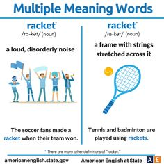Multiple Meaning Words: Racket