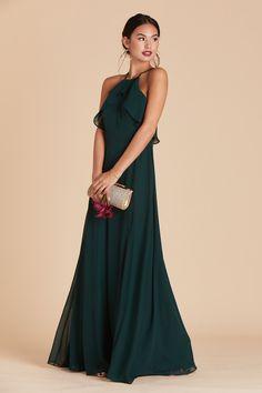 Jules Chiffon Bridesmaid Dress in Emerald – Birdy Grey Sexy Dresses, Evening Dresses, Prom Dresses, Wedding Dresses, Teal Dress For Wedding, Graduation Dresses, Modest Wedding, Club Dresses, Pretty Dresses