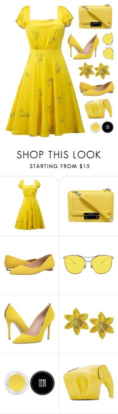 """""""la la land yellow 1st PV contest"""" by countrycousin ❤ liked on Polyvore featuring Rosetti, Massimo Matteo, SJP, Givenchy and Loewe"""