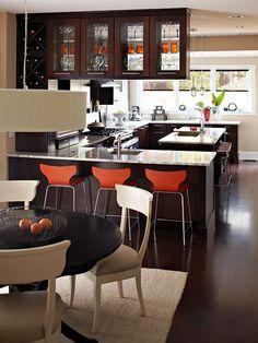 dark floors & dark cabinets for-the-home