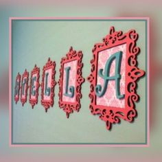 Spray paint old wooden picture frames, place letters in center for a trendy look for a bedroom