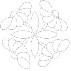 Button Daisy 1 x 4 535 Quilting Stencils, Quilting Templates, Machine Quilting Designs, Applique Templates, Applique Patterns, Applique Quilts, Applique Designs, Embroidery Applique, Quilt Patterns