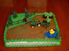 Coolest Tractor Cake Tractor birthday Tractor and Homemade