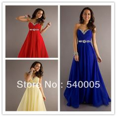 strapless sweetheart royal blue yellow red party Bridesmaid Dress maxi plus size 2014 new arrival elegant crystal US $73.68