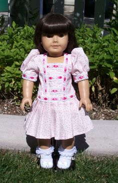 American Girl drop waist dress by RuthielovestoSew on Etsy, $34.00