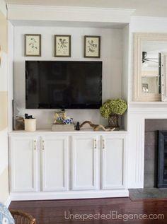 My BIG Finish Fireplace ShelvesFireplace Built InsDiy FireplaceLiving Room FireplaceFireplacesOff Center