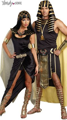 Julius Caesar Costume, Black Faux Leather Julius Caesar Costume, Black Roman Solider Costume, Cleo Costume, Egyptian Queen Costume, Black and Gold Cleo Costume